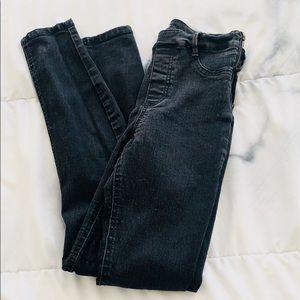 Zara Black High Waist Skinny Jeans